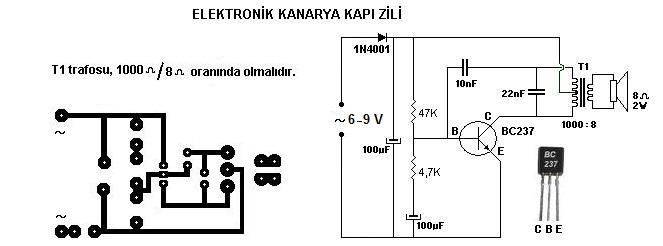 Elektronik Kanarya Kapı Zili