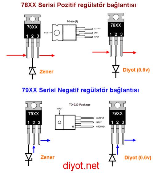 regulator-entegre-zener-diyot-voltaj-yukseltme