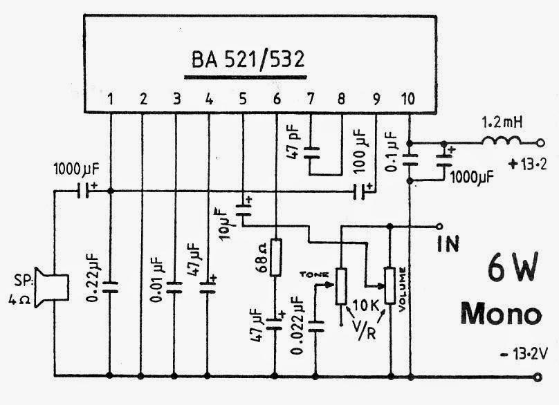 6WATT-MONO-AMPLIFIER