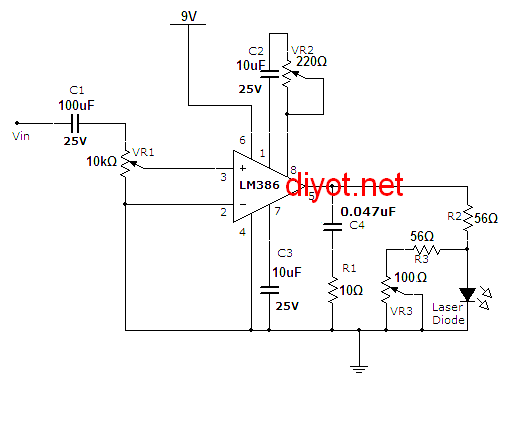 Laser-Communication-project-circuit-schematic-using-LASER-diode-and-LM386-low-voltage-audio-amplifier_Transmitter-circuit (1)