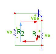 gerilim bölücü ile transistör polarlama
