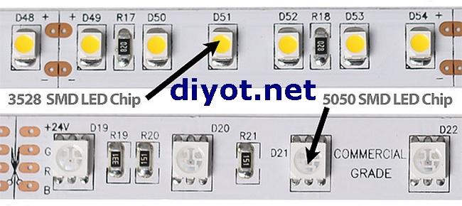 Şerit LED smd 3528 5050
