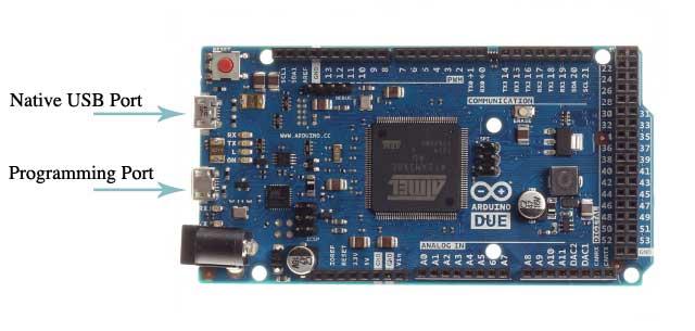 Arduino Due USB girişleri