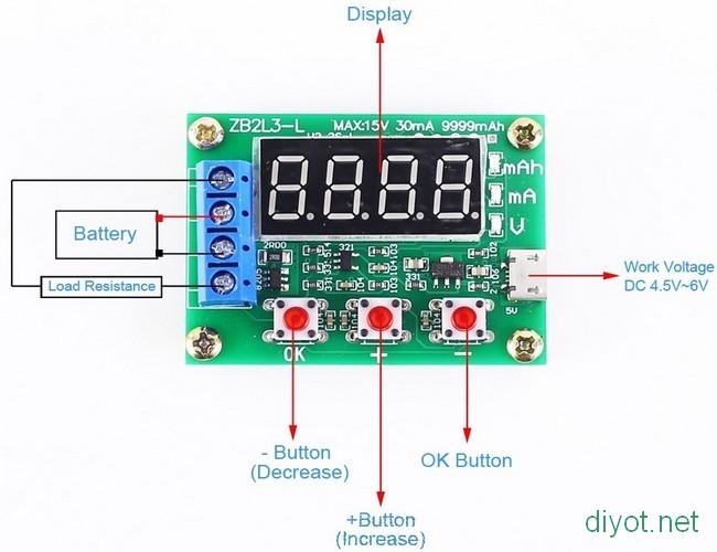 ZB2L3 Pil Kapasite Test Cihazı